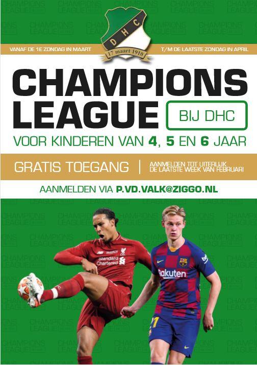 Start Championsleague op Zondag Ochtend