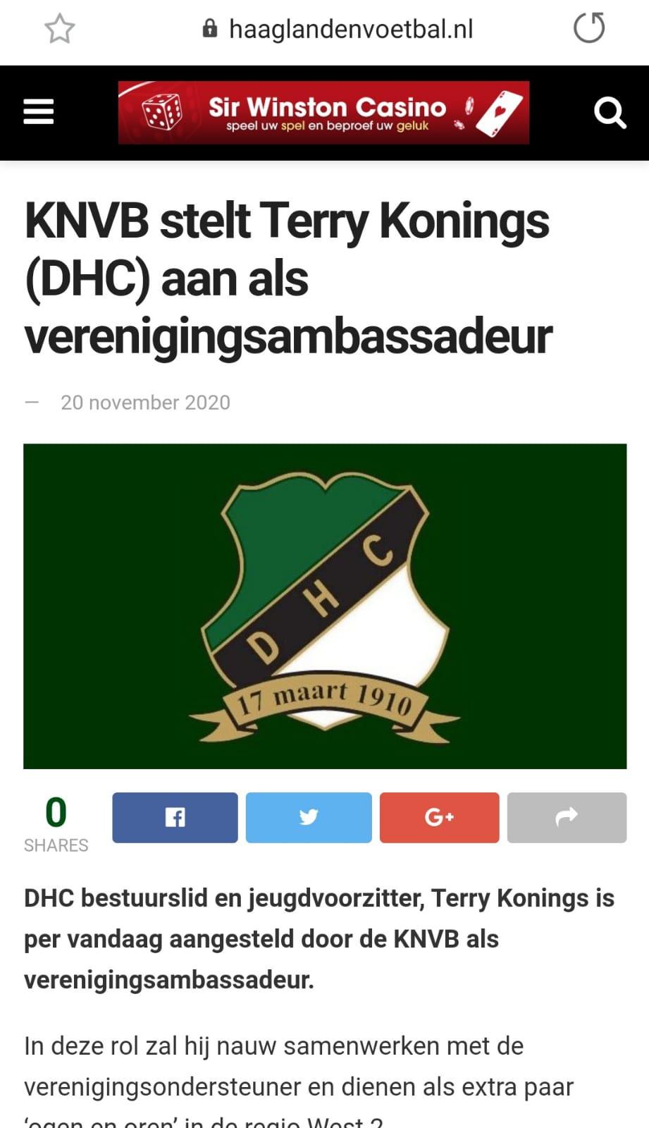 Haaglanden voetbal terry konings