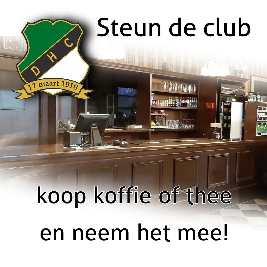 Steun DHC, koop Koffie of Thee